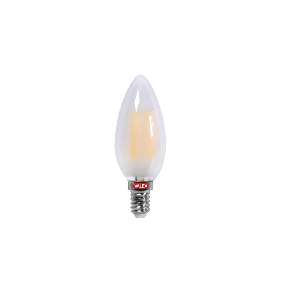 LAMPADINA LED FILAMENTO CANDELA SATINATA ATTACCO E14
