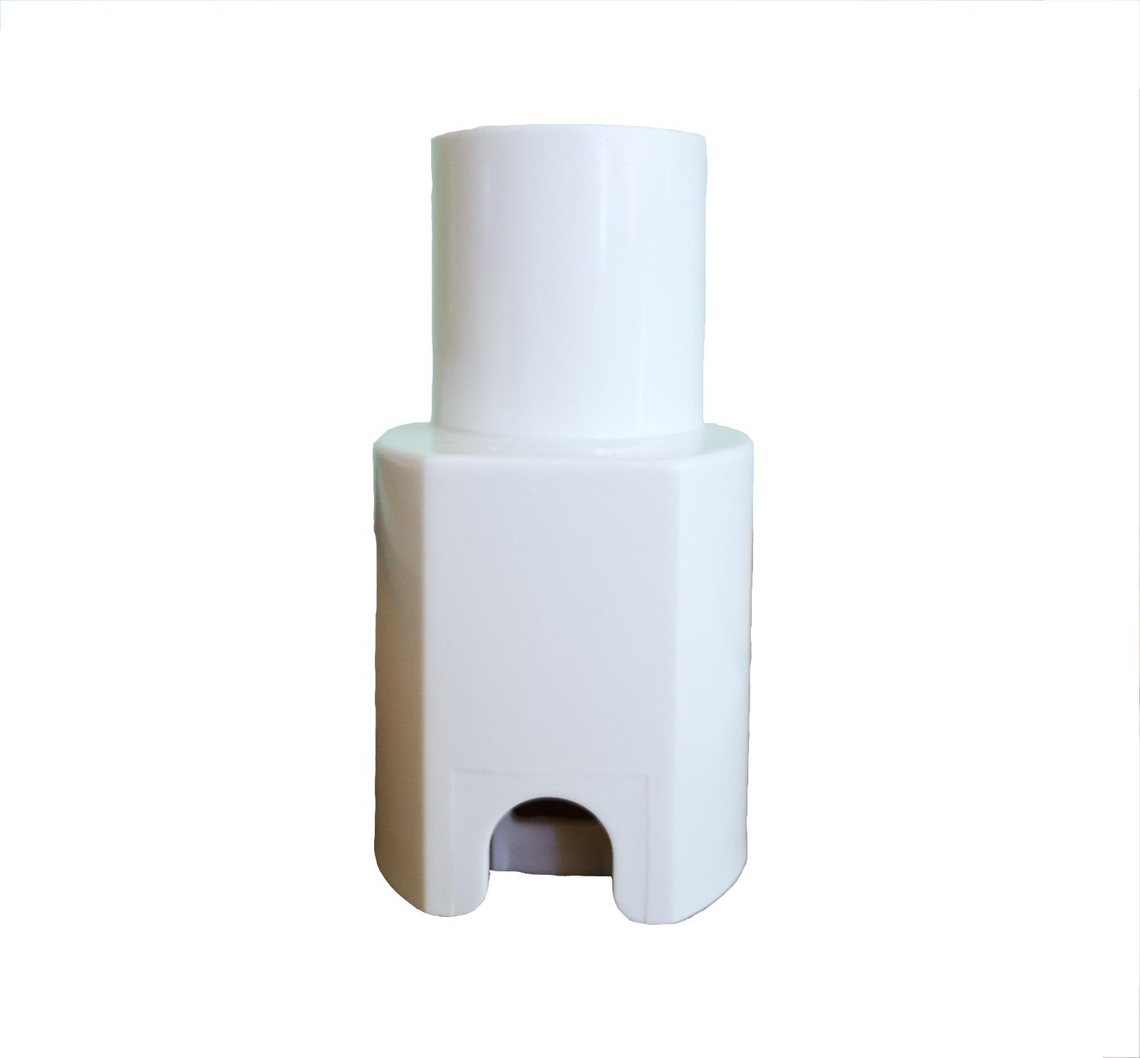 Adattatore non elettrificato per tubo vk 130 bianco