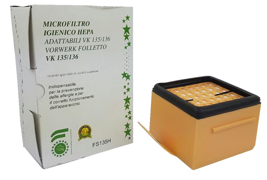 Microfiltro igienico hepa in scatola per  vk
