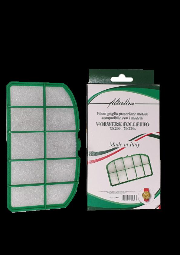 Filtro Griglia in scatola per vk200 Made in Italy