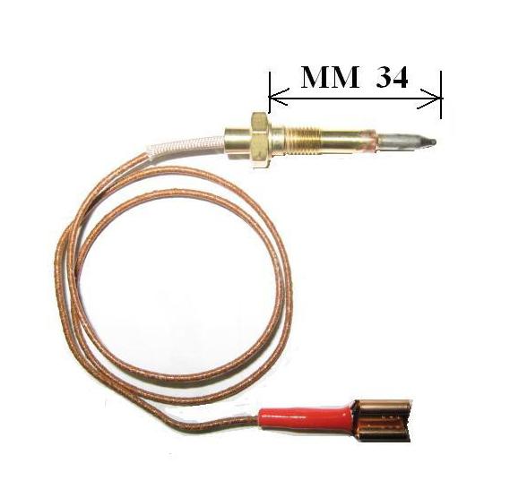 Termocoppia attacco faston adattabile Smeg lunghezza totale 45cm cod. 9486501