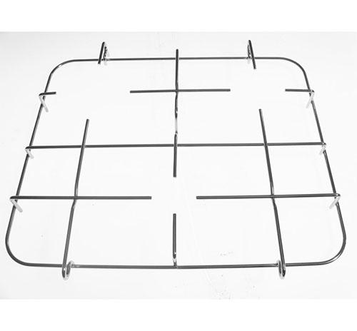 Griglia Bompani Boreal Fox 3 fuochi in acciaio cromato dim 42x35 cm