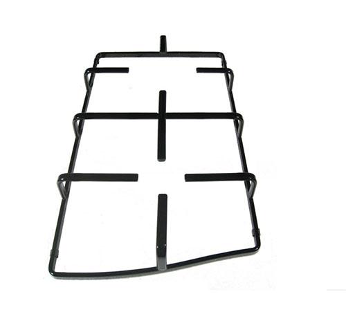 Griglia sinistra in piattina smaltata nera per piano cottura Ariston Hotpoint Indesit PC750