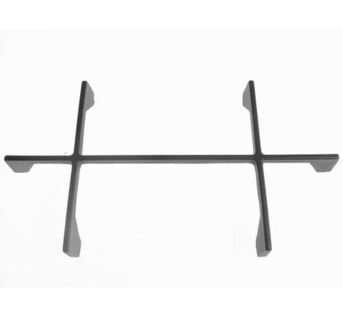 Griglia a croce in ghisa nera satinata 2 fuochi Foster dim cm 41.5x22.5x 4 altezza