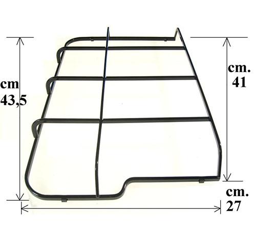 Griglia sinistra piano cottura cm43.5x27 Rex Electrolux Zanussi