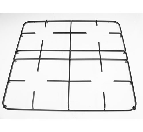 Griglia 4 fuochi nera lucida per piano cottura Candy Rosieres Iberna dim 47.8x44.5 cm