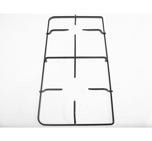 Griglia 2 fuochi smaltata nera per cucine Ariston Indesit dim 44.9x23.3 cm