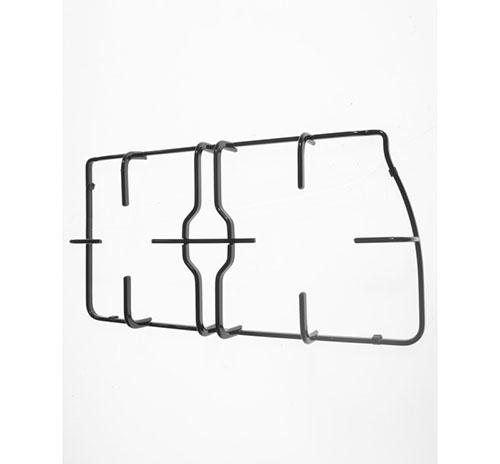 Griglia in piattina smaltata nera 2 fuochi sinistra per piano cottura Trend Franke dim 42.2x21.2 cm