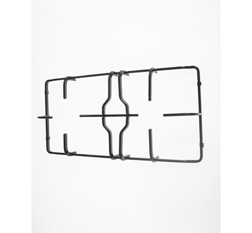 Griglia in piattina nera lucida per piano cottura Franke Trend 2 fuochi Centrale