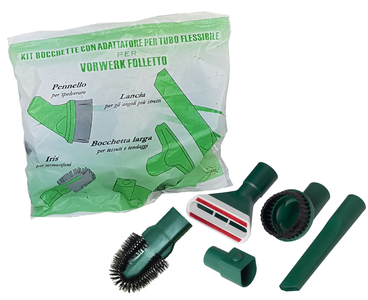 Kit 5 bocchette con adattatore per tubo fless