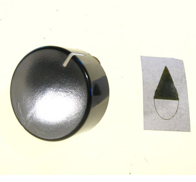 MANOPOLA NERA ADATTABILE SAMET PERNO DIAMETRO mm.6 MOZZO RASO