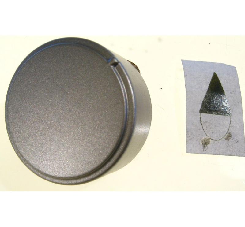 MANOPOLA ARGENTATA ADATTABILE ARISTON INDESIT PERNO DIAMETRO mm.6 MOZZO mm.3