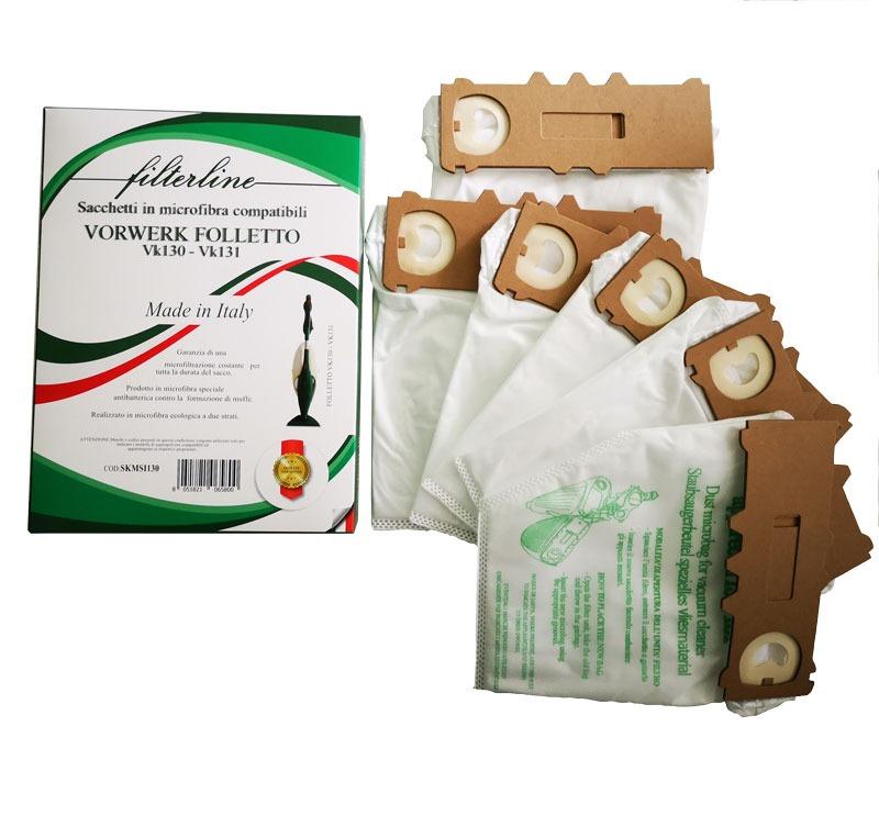 6 Sacchetti in microfibra in scatola vk130-131 made in Italy