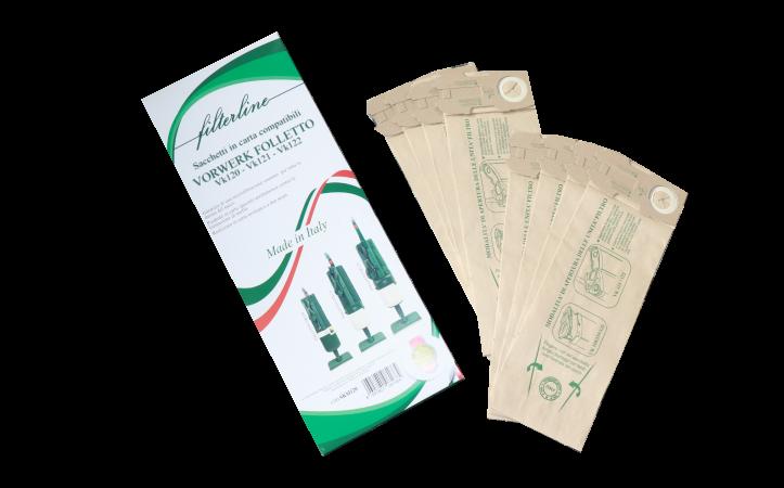 8 Sacchetti in carta in scatola vk120-121-122 made in Italy