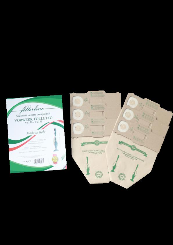 6 Sacchetti in carta in scatola vk 130-131 made in Italy