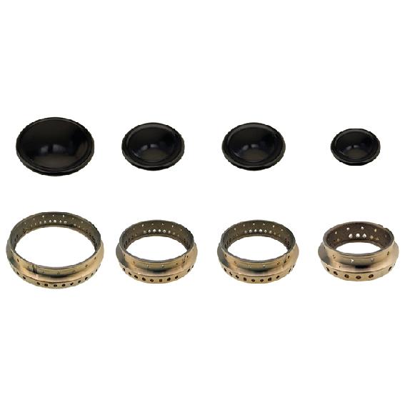 Kit completo Tecnogas anelli e piattelli doppio medio