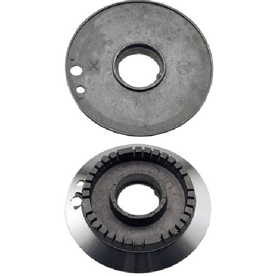Bruciatore alluminio due fori ultra rapido adattabile Smeg