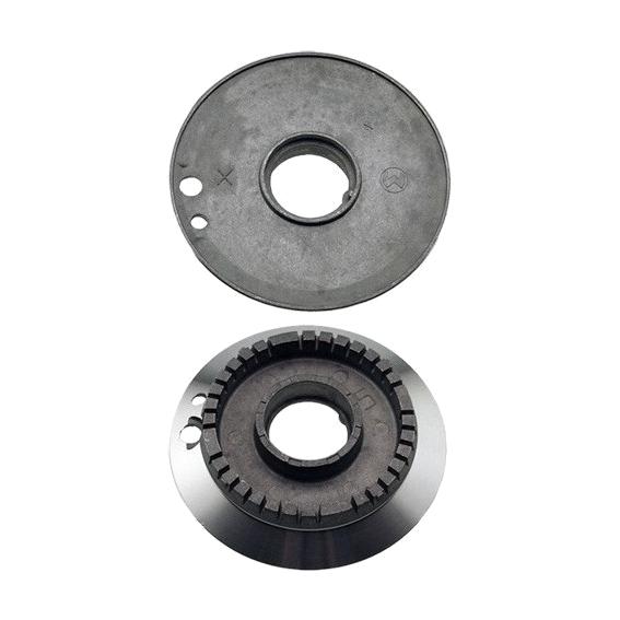 Bruciatore alluminio semi rapido due fori adattabile Smeg